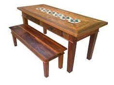 Resultado de imagem para modelos de mesas feita com mosaicos