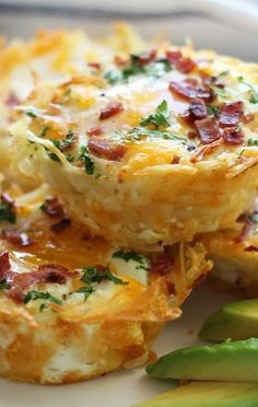 Hash brown egg nests. use zuchini instead of potatoes