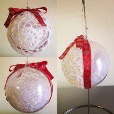 Pallina di Natale double-face uncinetto #crochet #uncinetto www.etsy.com/shop/fiocchidicotone01