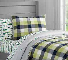 James Plaid Quilted Bedding #pbkids