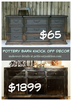 Pottery Barn Knock Off Good morning and welcome to our monthly furniture themed makeover day. The theme this month is Pottery Barn Knock Off furniture. Pottery Barn Hacks, Pottery Barn Furniture, Distressed Furniture, Refurbished Furniture, Furniture Restoration, Rustic Furniture, Furniture Makeover, Furniture Decor, Painted Furniture