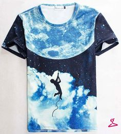e2a44d8c94aa 2015 summer style tshirt casual clothing short sleeve camiseta t shirt  Climb Moon vestidos printed T-shirts swag clothes