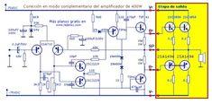 Electronics Projects, Hobby Electronics, Cool Electronics, Ab Circuit, Circuit Diagram, Diy Guitar Amp, Hifi Amplifier, Electronic Circuit Design, Speaker Plans