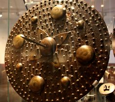 Highland Targe (Shield) with spike. Used by the Jacobites in the Battle of Culloden