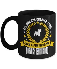 Dad Norwich Terrier Mug-Norwich Terrier Gift-Norwich Terrier Dad  #yesecart   #giftsfordad #giftsforher   Gift For Himgifts For Guys For Christmas Men Gifts For Guys Boyfriend Valentine's Day