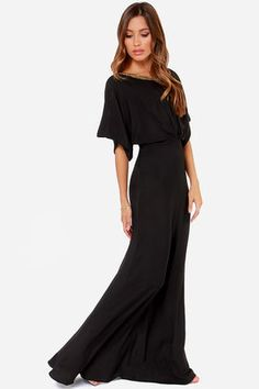 really cute long black dress. Would look amazing with an updo or equally cute dressed down.