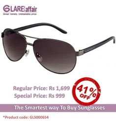Farenheit Superb 965 Gunmetal Green C2 Aviator Sunglasses http://www.glareaffair.com/sunglasses/farenheit-superb-965-gunmetal-green-c2-aviator-sunglasses.html Brand : Farenheit  Regular Price: Rs1,699 Special Price: Rs999  Discount : Rs700 (41%)