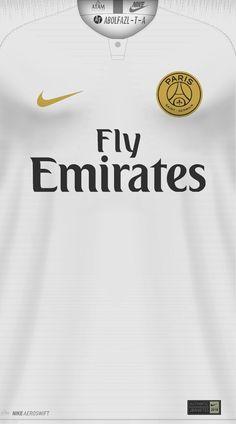 PSG (2) Nike Football Kits, Fifa Football, Football Is Life, Soccer Kits, Football Design, Football Jerseys, Football Cards, Real Madrid Kit, Lionel Messi Wallpapers
