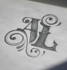 A L by Irina Kolosovskaya Creative Lettering, Graffiti Lettering, Lettering Styles, Lettering Design, Logo Design, Hand Lettering Alphabet, Typography Letters, Typography Sketch, Typography Inspiration