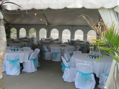 Wedding Reception in the River City Star Landing's White Event Tent