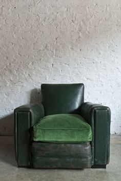 Retrouvius is an architectural salvage and design business. Leather Club Chairs, Architectural Salvage, Green Leather, Business Design, Design Ideas, Decorating, Architecture, House, Inspiration