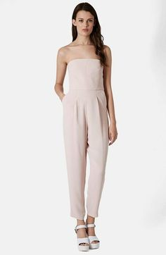 Topshop Tailored Strapless Jumpsuit on shopstyle.com
