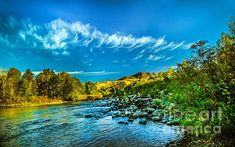 Payette River In HDR: http://fineartamerica.com/profiles/robert-bales/shop/all/all/all
