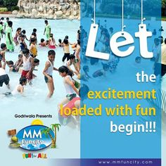 When school is OUT, the water park is IN!!! For More: https://goo.gl/Su9dWZ #MMFunCity #Raipur #Enjoy #Fun #Kids