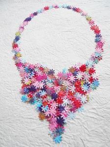 Floral paper necklace