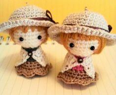 麦わら帽子の女の子<ストラップサイズ>