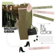 """No 325:Attention! Go Army Green (Top Set)"" by lovepastel ❤ liked on Polyvore featuring Garnier, Mr & Mrs Italy, SUNO New York, Yves Saint Laurent, Prada, The Row, Unitex International and Gogreen"