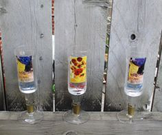 Gift for the Groom /  Vodka Glasses / by CarolesWeddingWhimsy, $25.99, set of 3 - Vintage Vincent Van Gogh Vodka Shot Glasses - the perfect gift for the Groom and a Man Cave Decor Essential - They were an incredible find.  Check them out at https://www.etsy.com/listing/193992133/gift-for-the-groom-vodka-glasses-vincent