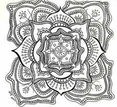 25 Fantastiche Immagini Su Mandala Difficili Da Colorare Per