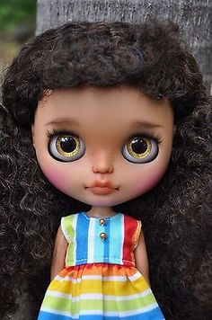 Custom Factory Blythe doll - Afro hair & Black skin