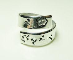 Dandelion ring  Wish ring aluminum adjustable ring by keoops8