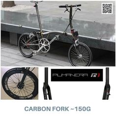 #PIUMANERA carbon fork... knocks 100g off titanium fork ( http://bikegang.store ) #Brompton #BIKEgang #BromptonWorldTravellers #BIKEgangSG #BromptonSociety #BromptonMODs #BromptonLife #MyBrompton #BromptonBicycle
