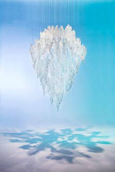 Frosty Leaves by @jikriica for Sans Souci - a modern light fixture of crystal leaves made by traditional hand-blowing. They are beautiful when in a mass, which highlights crystal unparalleled optics. As a cluster, they offer a truly emotive experience.