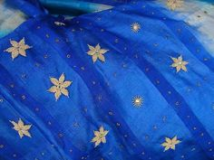Dabka work on raw silk