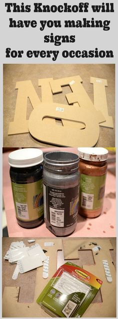 The Knockoff Sign that will inspire you to make signs for every occasion Knock off Decor #DIY Knock Off Pottery Barn