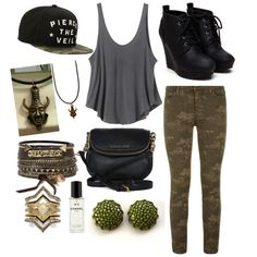 Mall Chill by hurit on Polyvore featuring polyvore fashion style RVCA J Brand Michael Kors BCBGeneration BKE Chanel