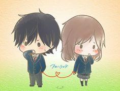 Ao haru ride chibi>>>>I love this anime!!