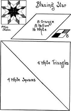 Quilt pattern: Blazing Star