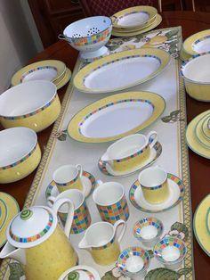 Villeroy-Boch, Twist Alea Limone servise. | FINN.no Fine Porcelain, Tiered Cakes