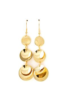 Sexy Gold Flake Earrings