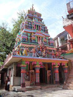 """My yoga novel """"Ashram"""" draws on ancient wisdom and practice. An elaborately painted temple in Rishikesh, India. Indian Temple, Hindu Temple, Rishikesh India, Haridwar, Amazing India, Namaste, Varanasi, Place Of Worship, Travel Abroad"""
