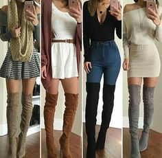 👇 girly outfits, casual fall outfits, holiday o Cute Casual Outfits, Girly Outfits, Mode Outfits, Chic Outfits, New Outfits, Dress Outfits, Sweater Outfits, Teenage Outfits, Teen Fashion Outfits