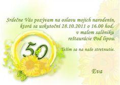 Pozvánka na oslavu jubilea - JU001