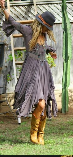 summer bohemian dress and the boots