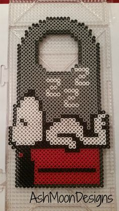Snoopy Perler Bead Door Hanger by AshMoonDesigns on Etsy