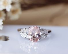 7x9mm Oval Cut Morganite Ring Solid 14K Rose Gold by Julian's tedious -  *******omggg