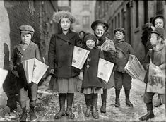 Разносчики газет. Хартфорд, штат Коннектикут, 1909 год