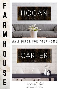 Modern Farmhouse Family Name Established Sign - Widdlytinks Wall Art Unique Wall Decor, Modern Farmhouse Decor, Rustic Wall Decor, Rustic Walls, Home Wall Decor, Entryway Decor, Bedroom Decor, Farmhouse Signs, Rustic Signs