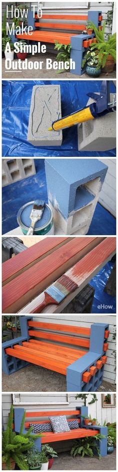 How To Make A Simple Outdoor Bench Pictures, Photos, and Images for Facebook, Tumblr, Pinterest, and Twitter