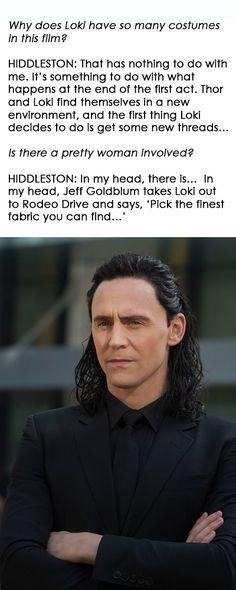 Tom Hiddleston on Loki's Transformation in 'Thor: Ragnarok': http://collider.com/tom-hiddleston-thor-ragnarok-interview/#loki