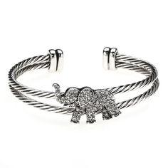 Elephant Cuff Bracelet - For all our elephant lovers! #elephantbracelet #elephants #jewelry