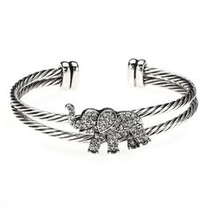 Elephant Cuff Bracelet - For all our elephant lovers! #elephantbracelet #elephants #jewelry