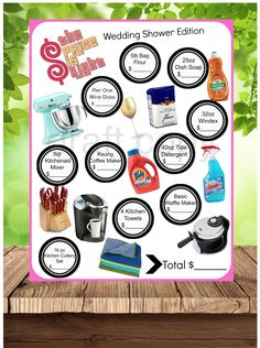 Wedding Shower Game Price Is Right By 31Flavorsofdesign On Etsy