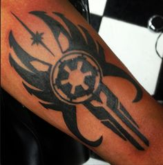 My night has karking made! I designed this! It was just brought to my attention that someone got this inked! Here is the original. http://lokidiscordia.deviantart.com/art/mandalorian-republic-68882681