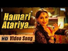 "Mesmerizing Madhuri Dixit, intoxicates you with her sensual moves and expressions in the beautiful rendition of Begum Akhtar's popular Thumri, ""Hamari Atariya Pe"" sung in the captivating voice of Rekha Bhardwaj"