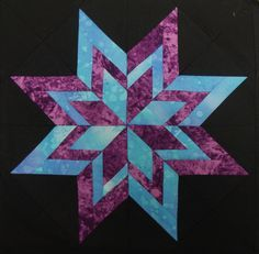 Free 10 Quilt Block Patterns | Nifty Fifty Quilters of America Carol Doak's Paper-pieced Star Blocks